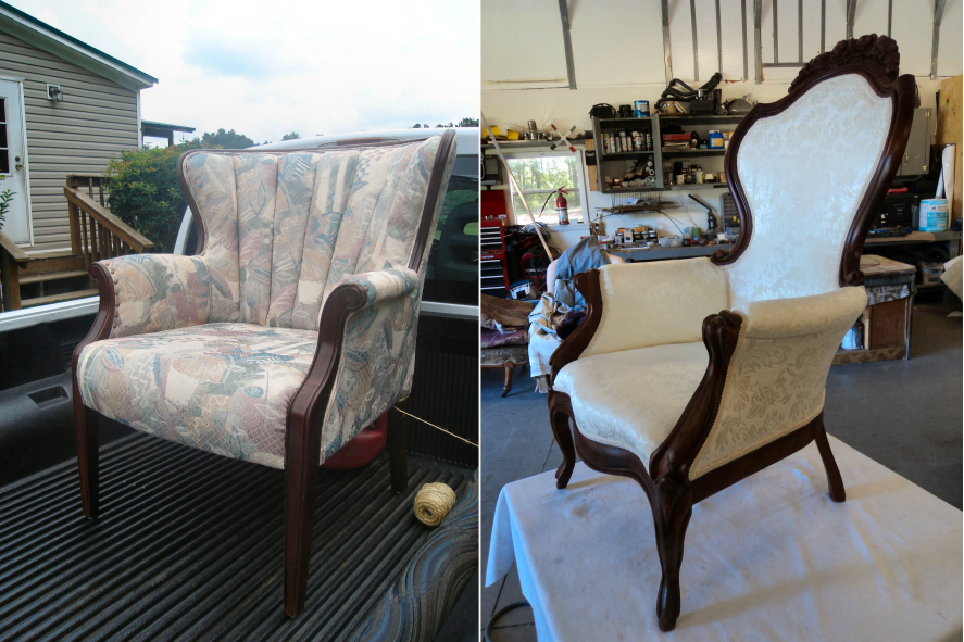 Queen Anne & Wing chair